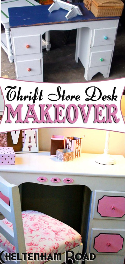 Little Girl's Desk Makeover project Cheltenham Road