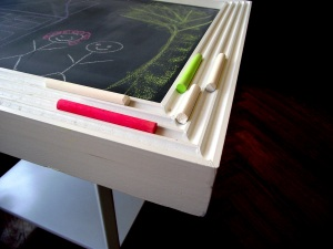 Transform an End Table into a Chalkboard Play Station