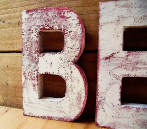 Distressed Wood Letters Tutorial