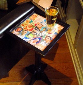 Tutorial: Man Cave Vintage Baseball Card Table