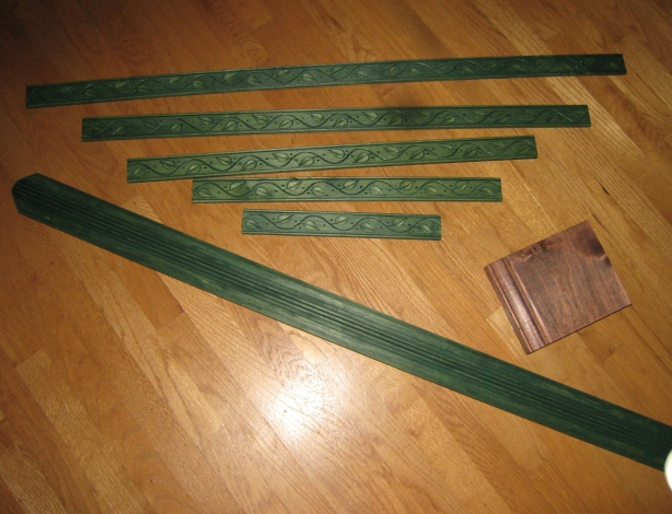 green colored wood stain