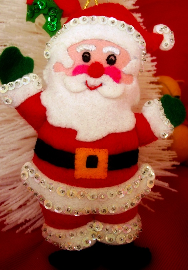 Mom's Santa Ornament