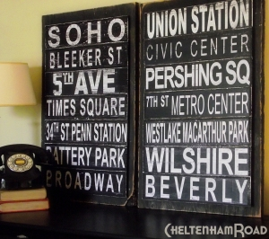 DIY Subway Art