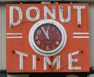 vintage donut sign