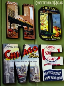 vintage Chicago Wood HOME sign