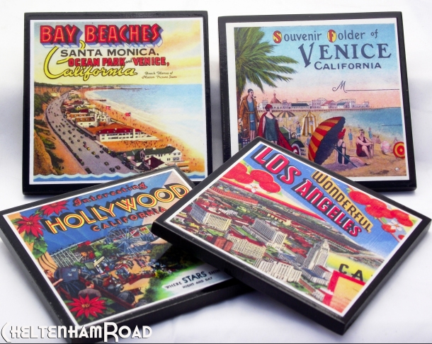 Vintage Los Angeles Coasters
