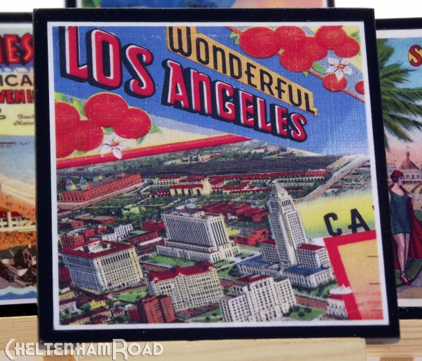 Vintage Los Angeles coaster set