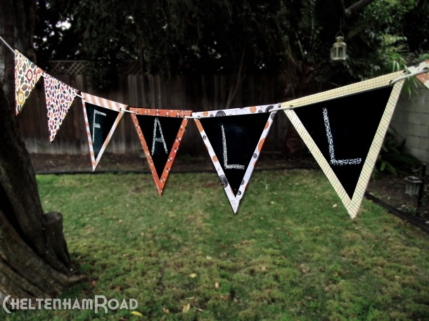 chalkboard bunting project