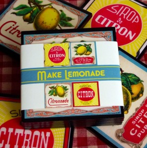 Vintage Lemonade Label Coaster Set