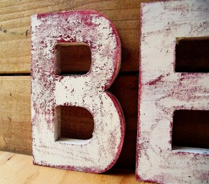 How to make distressed painted wood letters