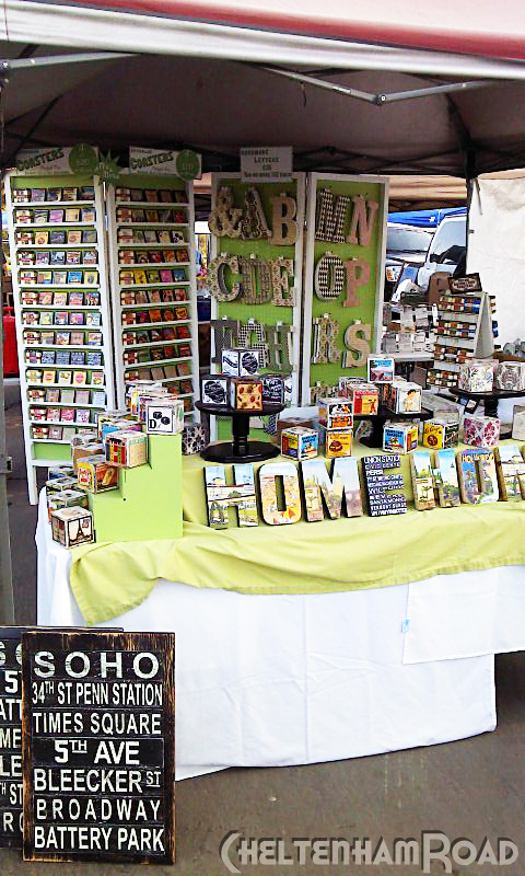 Craft booth set up cheltenham road