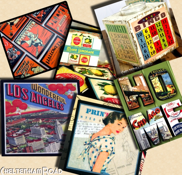 retro style coasters and gift ideas from Cheltenham Road