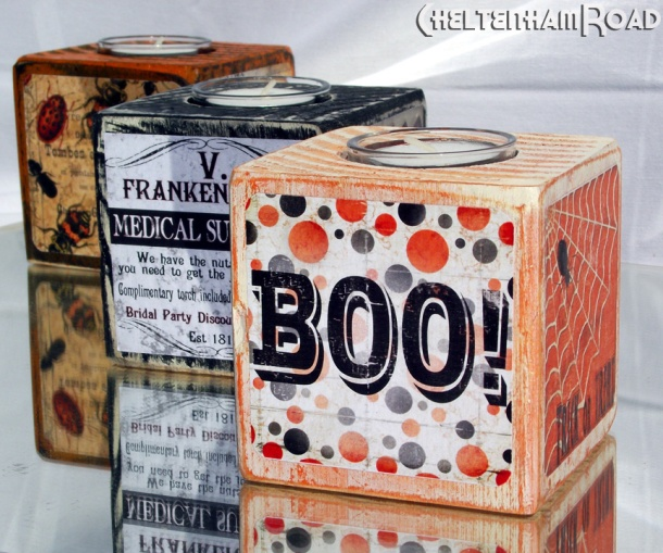 Halloween Tealight Holders by Cheltenham Road