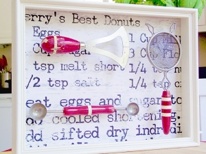 Vintage Kitchen Shadow Box