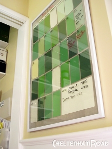 Easy Project Use Paint Chips to make a Calendar