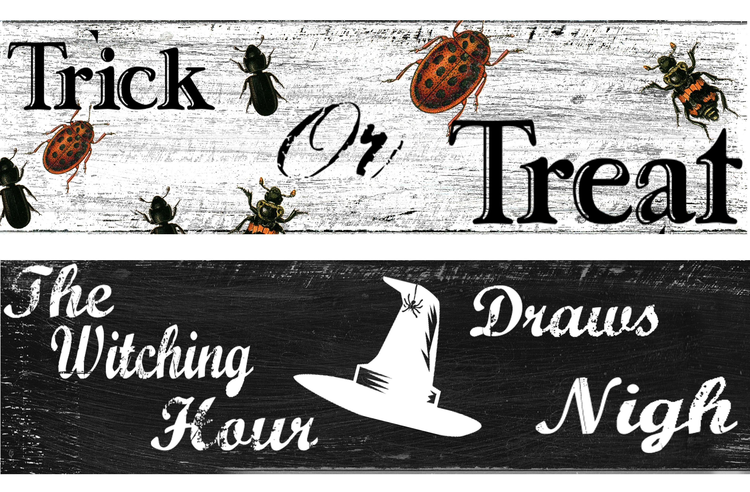 Decorating Ideas > Halloween Door Hanger Project And Free Printables  ~ 045651_Halloween Door Signs Printable