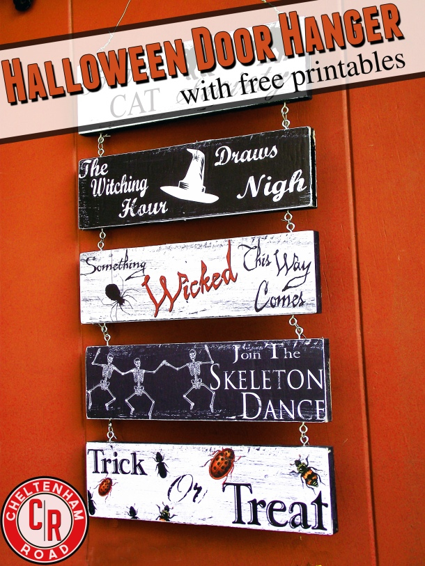 Easy DIY Halloween Door Hanger