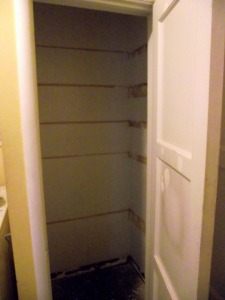 Pantry Closet Before