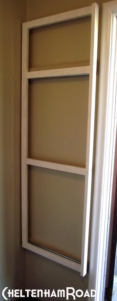 Installed Frame for Slide Out Storage