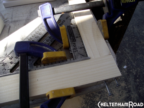 Use Clamps to create perfect 90 degree corners