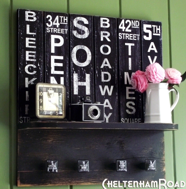 Vintage New York Subway Art Wall Shelf