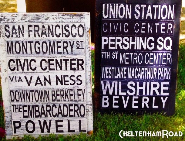 Subway Graphic Signs for San Francisco and Los Angeles