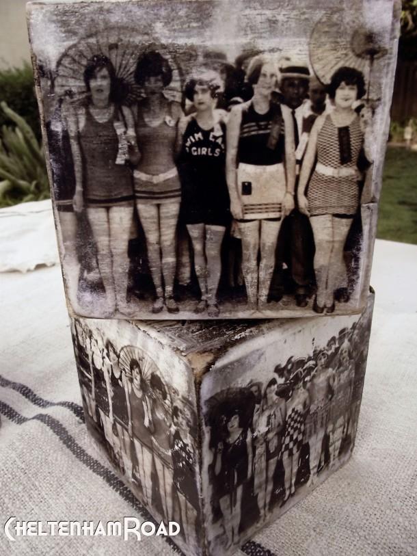 Vintage Bathing Beauties Candle Blocks