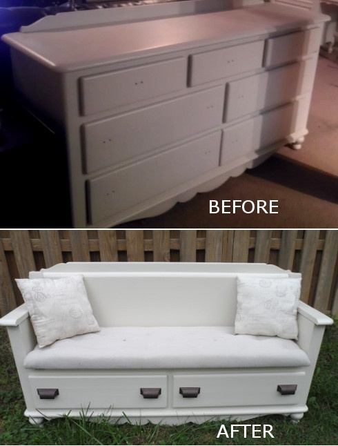 Turn a Dresser into a Storage Bench