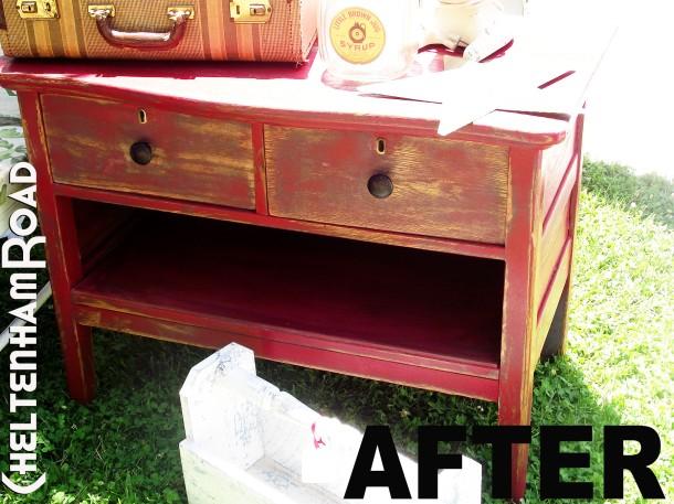 LIttle Red Dresser After