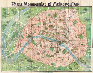 Paris Map 1918