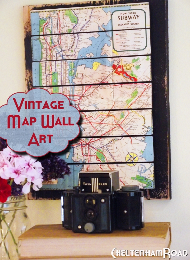 Vintage Map Wall Art Tutorial