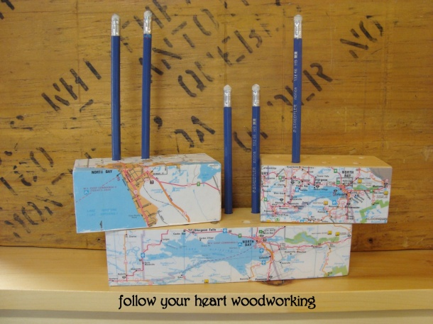 Follow Your Heart Woodworking Pencil Holders