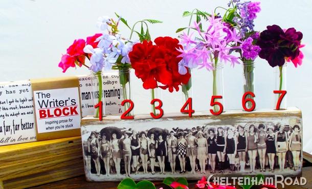 Writer's Block and Bud Vase Display