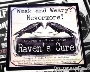 Edgar Allen Poe Raven's Cure Gothic Halloween Coaster