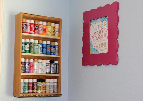 Recycled+Drawer+Paint+Storage+Shelf