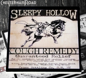 Sleepy Hollow Cough Cure Gothic Coaster Set Cheltenham Road