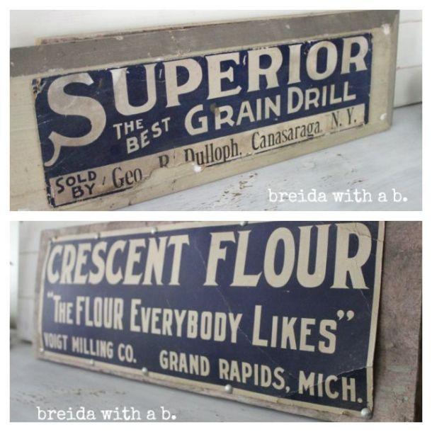 Vintage Flour Sign