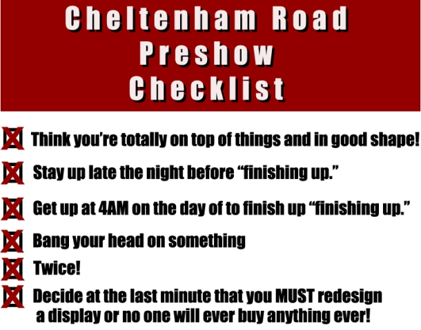 Cheltenham Road Checklist