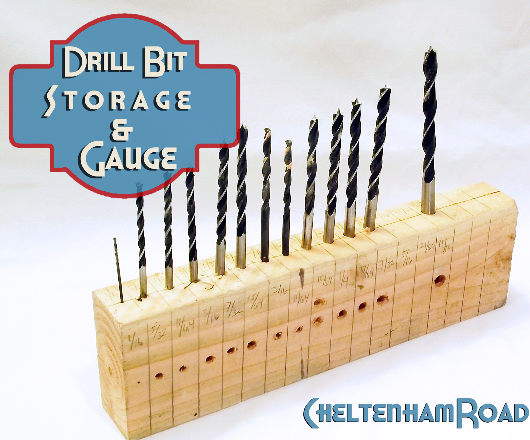 diy drill bit holder. drill bit storage and gauge tutorial cheltenham road diy holder