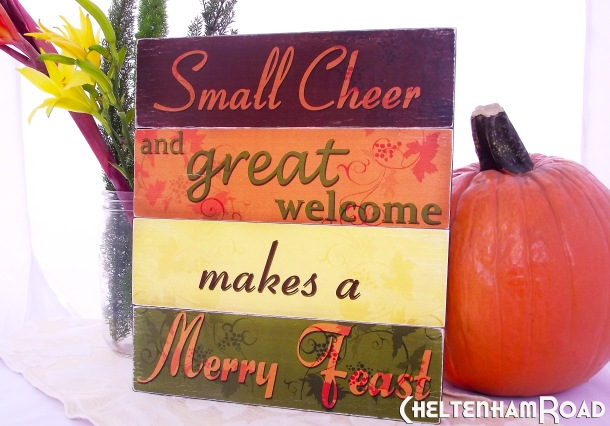 Festive Sign for Thanksgiving