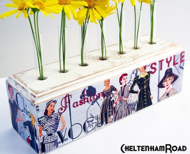 Vintage Dress Pattern Flower Holder Cheltenham Road