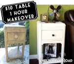 $10 Table 1 Hour Makeover