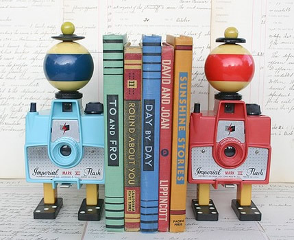 Found Object Book Ends