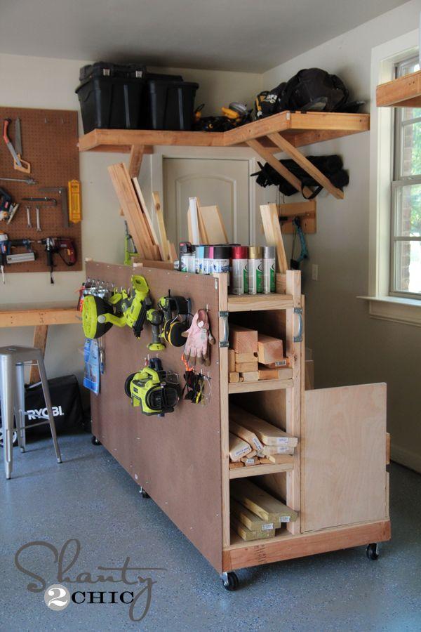 Garage Lumber Organizer