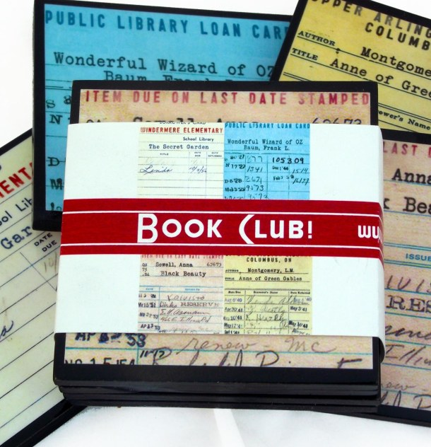 Library Card Coaster Set by Cheltenham Road