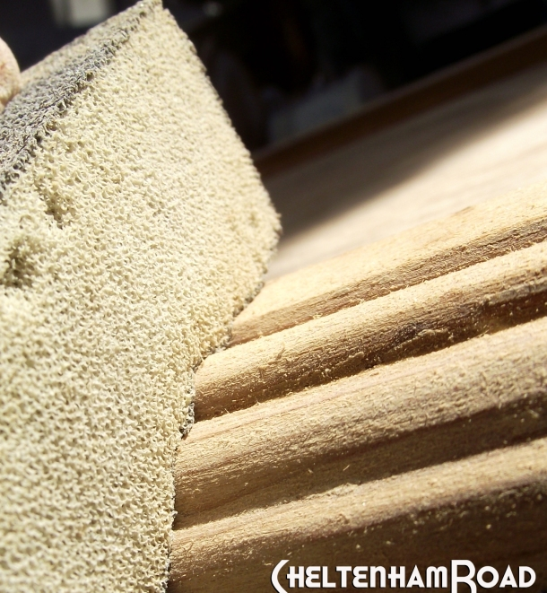 Use a Sanding Sponge for Detail Sanding
