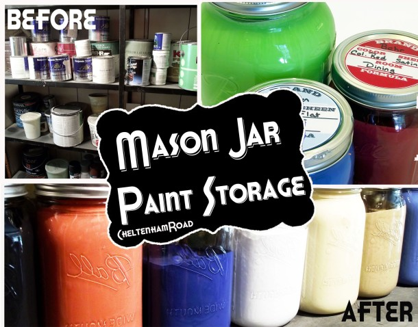 Use Mason Jars to Store Leftover Paint Cheltenham Road