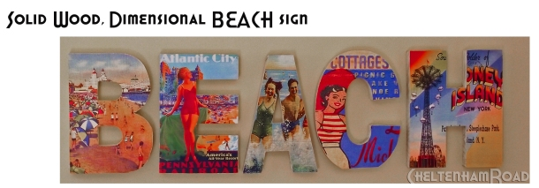 Beach Sign by Cheltenham Road