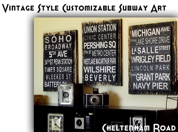 Custom Vintage Subway Art