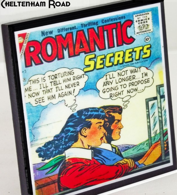 Retro Comic Book Romance Coaster Set Cheltenham Road